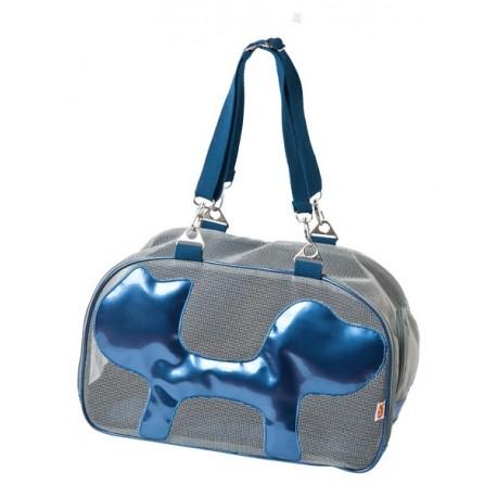 Borsa per trasporto per cane mesh blu - Borsa porta cane ...