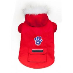 Cappotto per Cane Winter Wilderness Rosso