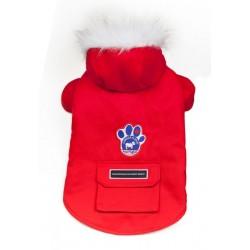 Cappotto per Cane Winter Wilderness Rosso