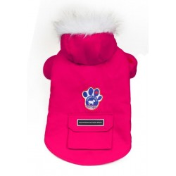 Cappotto per Cane Winter Wilderness Fucsia