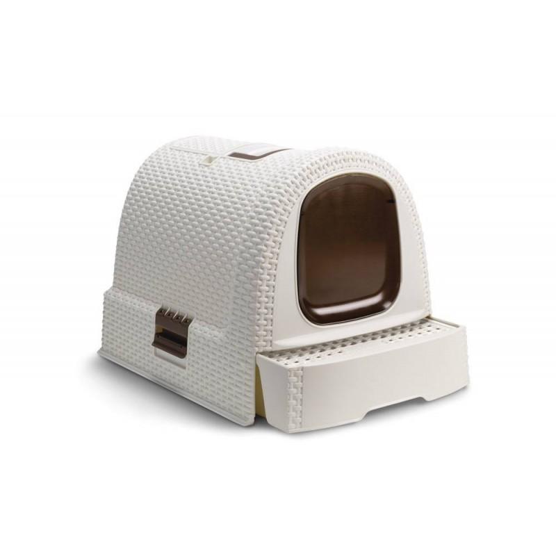 Cassetta igienica box lettiera toilette pet luxury rattan for Migliore lettiera per gatti