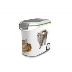 Porta Alimenti Gatto Curver W/Green 35Lt