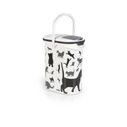 Porta Alimenti Gatto Curver 10Lt Black and White