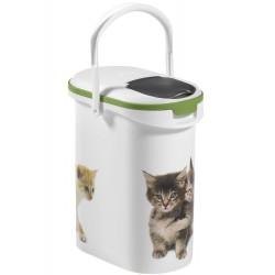 Porta Alimenti Gatto Curver 10Lt W/Green