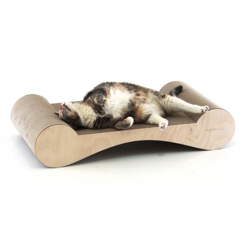 Tiragraffi economici per gatti LETTO in Cartone Pressato