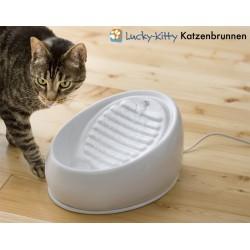 Lucky-Kitty Fontana per Gatti Verde Pastello In azione