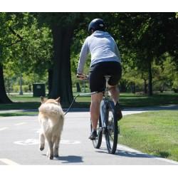Cycleash Guinzaglio Universale per Bici Montatato Vista da Dietro