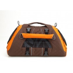 JET SET FORMA FRAME - Borsa per Cane  Medium Marrone Vista Tre Quarti