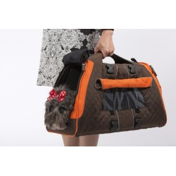 JET SET FORMA FRAME - Borsa per Cane  Medium Marrone A Mano