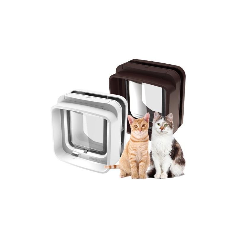 Gattaiola microchip gatto sureflap bianca for Porta basculante per cani grandi con microchip