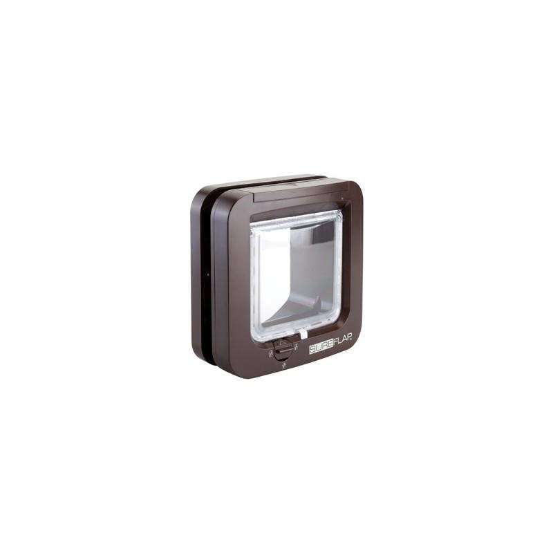 Gattaiola microchip gatto sureflap marrone for Porta basculante per cani grandi con microchip