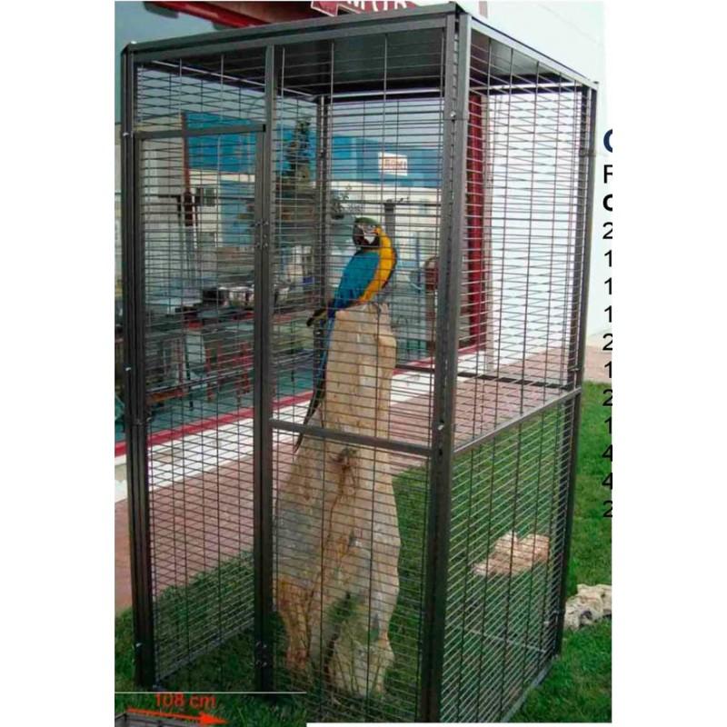 Voliera quadrata da esterno per pappagalli 1 m for Voliera fai da te