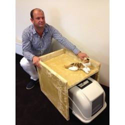 Cat Toilette Box Tiragraffi Beige