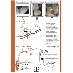 EB Protector Telo Sedile Posteriore Auto TAN Schema