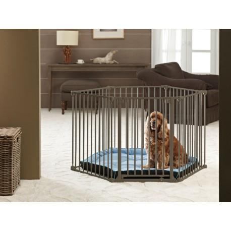 Dog park de luxe recinto cani in metallo regolabile anche for Cani da tenere in casa