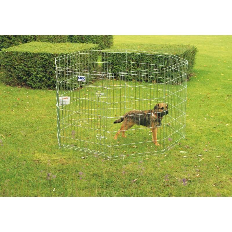 Recinto per cani dog park 2 da esterno in metallo for Box per cani in muratura