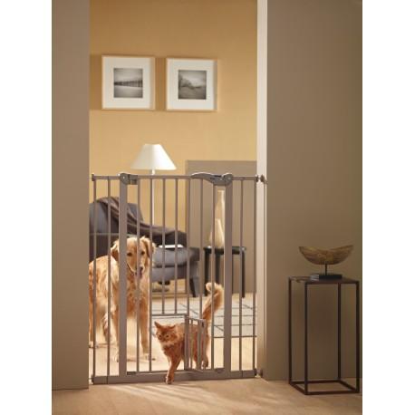 Mobili lavelli cancelletto dog barrier 2 con porta for Cancelletti per cani da esterno