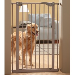 Dog barrier gate 107 cancelletto da interno in metallo per for Cancelletti ikea