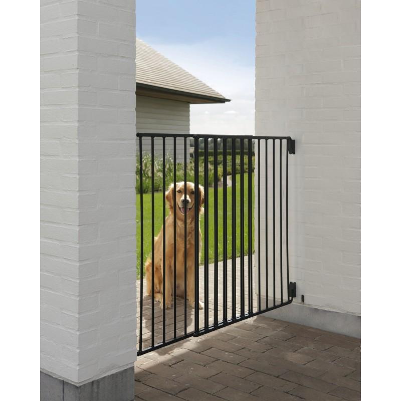 Cancelletto da esterno verniciato in metallo dog barrier - Cancelli in legno per giardino ...