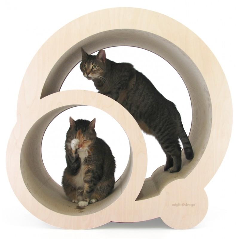 Tiragraffi economici per gatti rotunda in cartone pressato