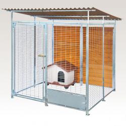 Box in Acciaio Zincato per Cani - Zincato 2x2 mt