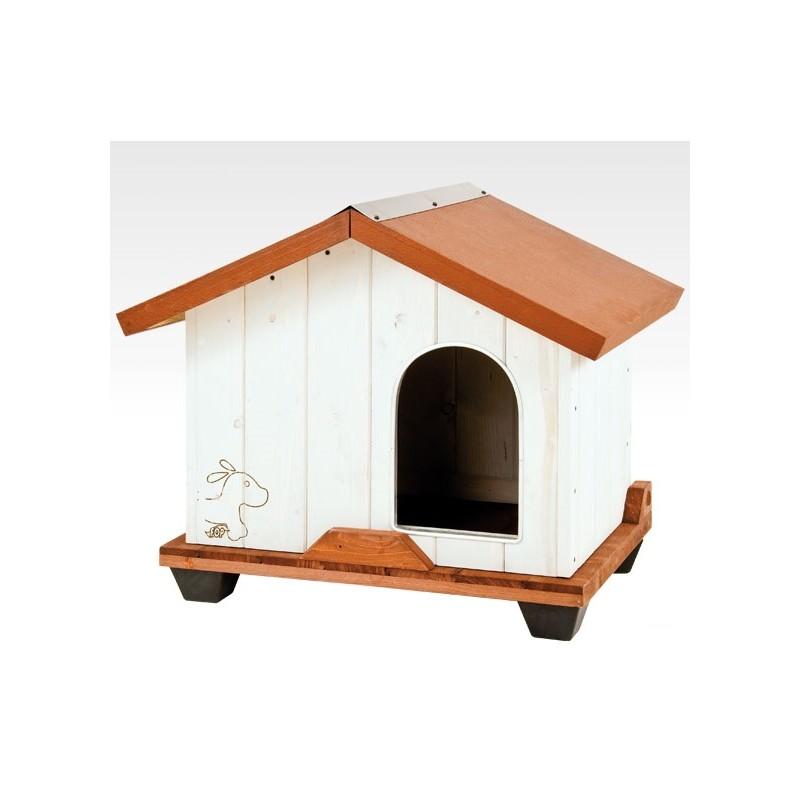 Cuccia per cani tequila in legno trattato small for Cucce per gatti da esterno coibentate