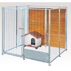 Box in Acciaio Zincato per Cani - Zincato 2x2 mt senza Tetto