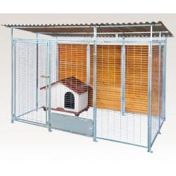 Box in Acciaio Zincato per Cani - Zincato 2x2 mt con Tetto
