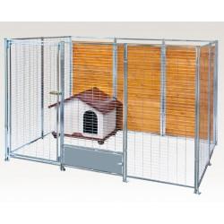 Box recinto in acciaio zincato da esterno per cani for Box per cani da esterno usati