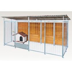 Box in Acciaio Zincato per Cani - Zincato 4x2 mt con Tetto