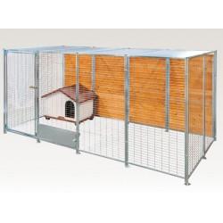 Box in Acciaio Zincato per Cani - Zincato 4x2 mt senza Tetto