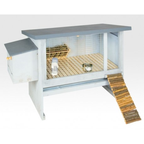 Lapin 110 conigliera da esterno in legno trattato for Conigliera in legno