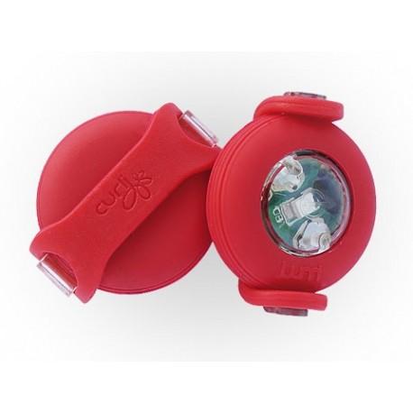 Luumi LED - Luce per Guinzaglio Colore Rosso