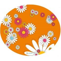 Lucky-Kitty Rubber Placemat Tovaglietta Arancione