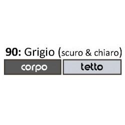 Gabbia Voliera Zincata Singola Camera per Uccellini 500.91 Ruggine & Crema