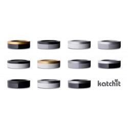 Katchit Lettiera Gatto Alluminio e Smalto Grigio - Argento