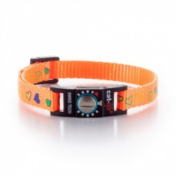 Collare Gatto Salvavita CAT-LIFE FUN HEARTS ARANCIO