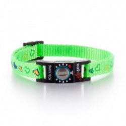 Collare Gatto Salvavita CAT-LIFE FUN HEARTS VERDE BRILLANTE
