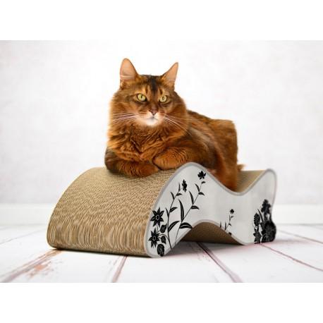 KABOU Line Cat-On Tiragraffi in Cartone Ondulato Small