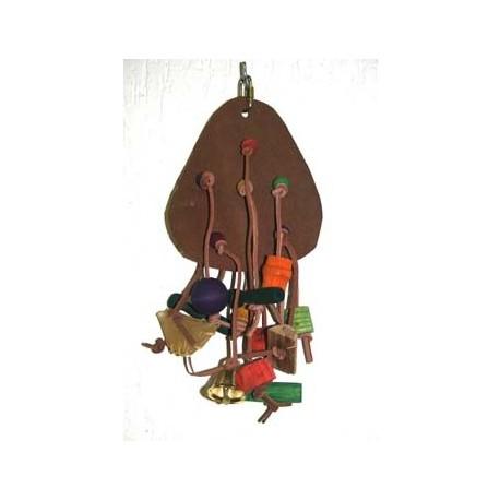 Gioco Pappagallo in Legno e Cuoio Leather Fun III