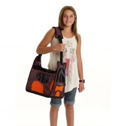 BOBY BAG - Borsa per Cane marrone arancio