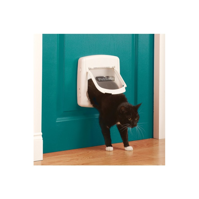 300 manual gattaiola bianca 7 kg porta basculante per gatti - Porta per gatti ...