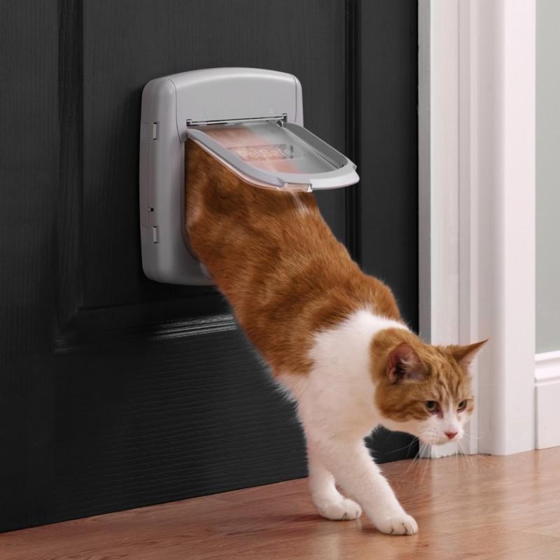 300 manual gattaiola grigio 7 kg porta basculante per gatti - Porta per gatti ...