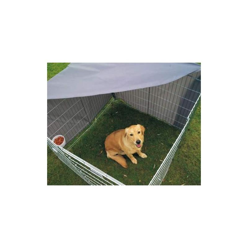 Grande recinto per cani dog park 3 da esterno in metallo zincato - Recinto mobile per cani ...