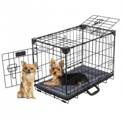 Kennel LuckyDog in metallo ripiegabile Extra Small