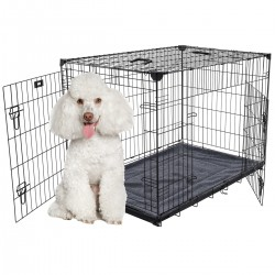Kennel LuckyDog in metallo ripiegabile Medium Piccoli Cani