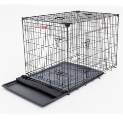 Kennel LuckyDog in metallo ripiegabile Large per Cani