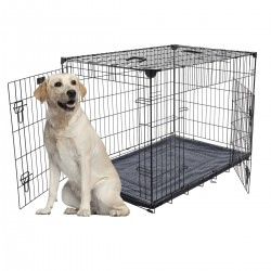 Kennel LuckyDog in metallo ripiegabile Extra Large per Cani