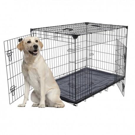 Kennel LuckyDog in metallo ripiegabile Extra Large per Cani