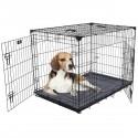 Kennel LuckyDog in metallo ripiegabile Large per Cani